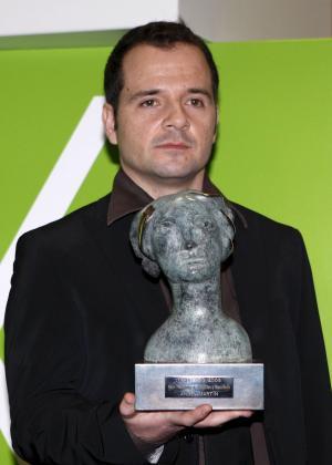 El presentador Àngel Martín, durante la ceremonia de los premios TP de Oro.