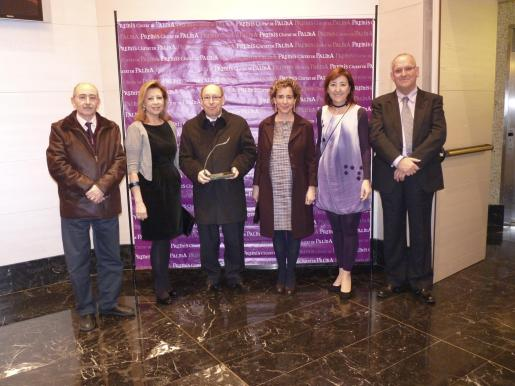 Lleonard Muntaner, Maria Antònia Munar, Jaume Medina, Aina Calvo, Nanda Ramon y Sebastià Serra.