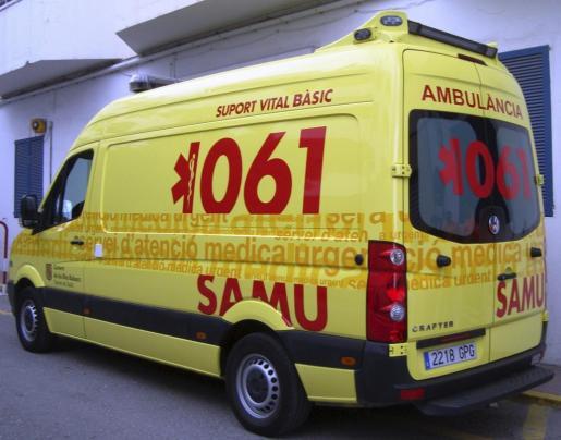 En la imagen, una de las ambulancias del SAMU.