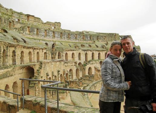 Sonia Moreno y Juan Sebastián Estornell, en su viaje a Túnez.