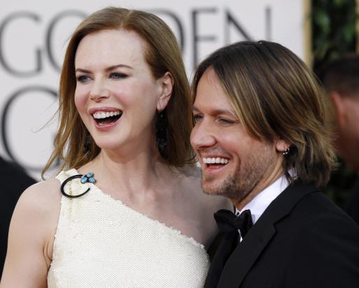 Nicole Kidman y su marido Keith Urban, en la entrega de los Globos de Oro.
