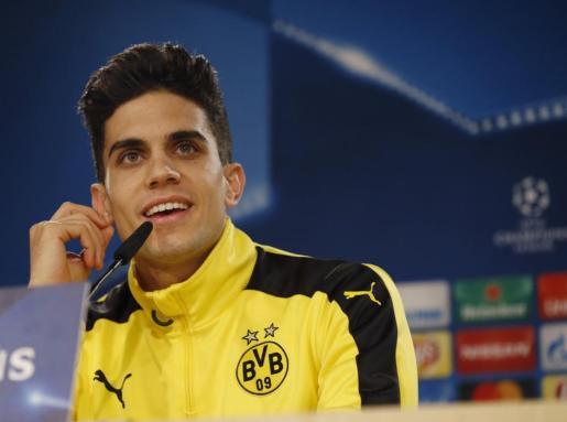Fotografía de archivo tomada el 06/12/2016 del defensa español de Borussia Dortmund Marc Bartra.