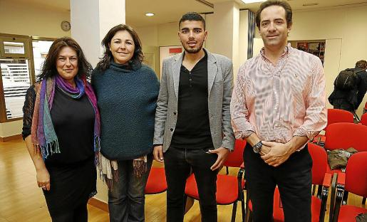 Mariluz Cano, Inma Alcina, Mohamed Allouath y Eduardo Sánchez.