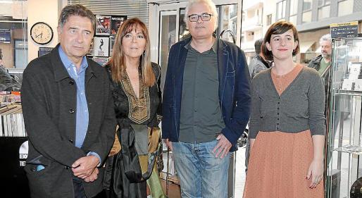 Joan Carles Doval, Maria del Mar Bonet, Jordi Bianciotto y Mireia Lite.