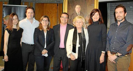 Ana Llano, Javier Palmer, Núria Palmer, Javier Palmer, Maribel Bennazar, Pilar Rubí y Estanislao de Simón.