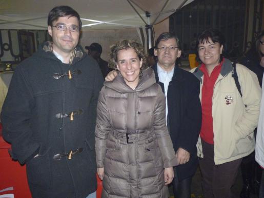 José Hila, Aina Calvo, Vicenç Thomás y Susana Moll.