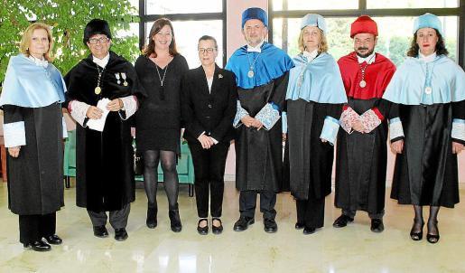 Carme Riera, Llorenç Huguet, Francina Armengol, Francisca Mas, Jaume Carod, Maria Antònia Fornés, Pere Grimalt y María Payeras.