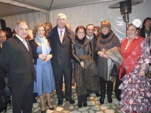 Juan Fernández, Manuela López, José Antonio Gómez Periñán, Inés Sánchez, Manuel Garrocho, Carmen Olmo y Reme Romero.