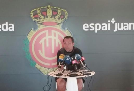 El entrenador del Real Mallorca quiere que sus jugadores lo den todo en el partido contra el Córdoba.