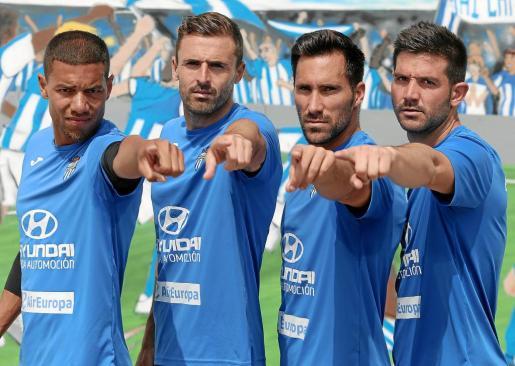 Marcel Biyouha, Esteban Muñoz, Xisco Hernández y Biel Guasp señalan el primer objetivo del ATB: ganar al Hércules el domingo.