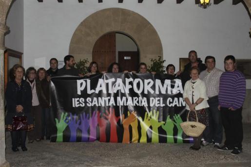 Imagen de archivo de una de las protestas de la Plataforma IES Santa Maria.