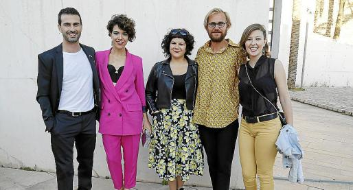 Joan Miquel Artigues, Querald Albinyana, Esther López, Josep Orfila y Maria Bauzà.