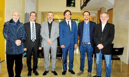 Lleonard Muntaner, Juanjo Montañez, Rafel Creus, Francesc Miralles, Llorenç Carrió y Jaume Mateu.