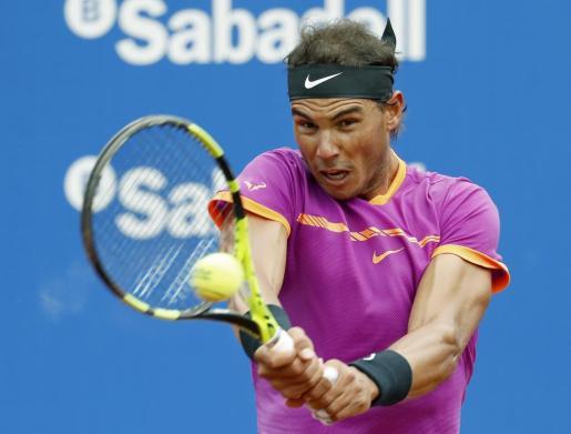 El tenista Rafa Nadal durante el encuentro.