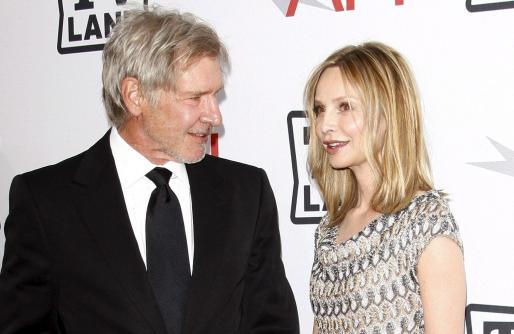 Harrison Ford y su esposa, Calista Flockhart.