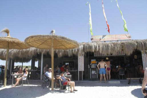 Imagen de uno de los Chiringuitos de Es Trenc.