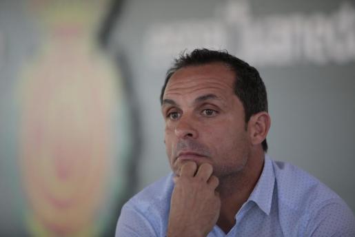 Sergi Barjuan, entrenador del Real Mallorca.