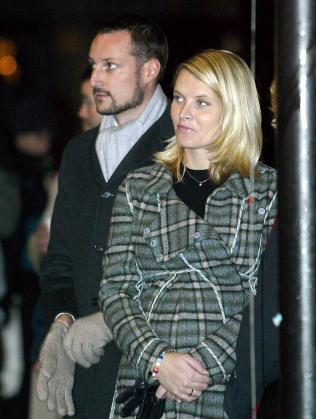 El príncipe Haakon y Mette Marit.