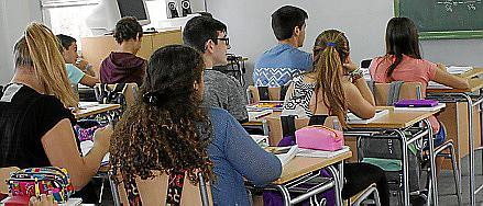 Imagen de un aula de Balears.