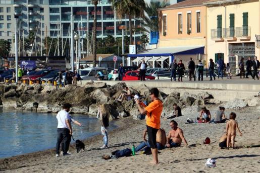 Imagen de archivo de la playa del Portixol.