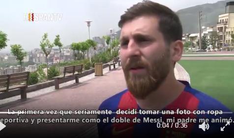 Imagen del doble iraní de Messi.