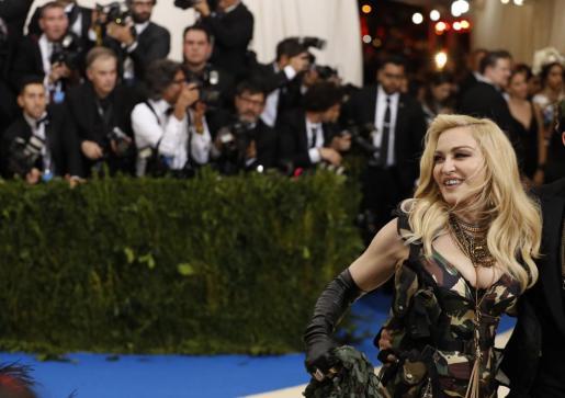 Madonna, a su llegada a la gala MET.