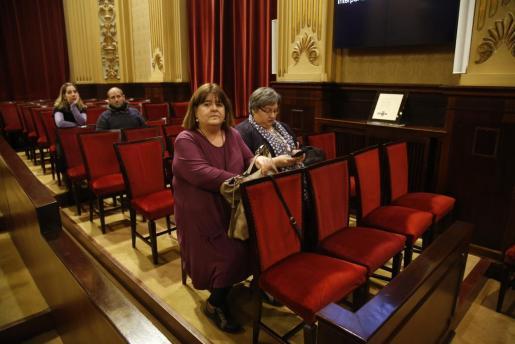 Las 'expodemitas' Huertas y Seijas, ahora en el grupo mixto, en una imagen de archivo en el Parlament.