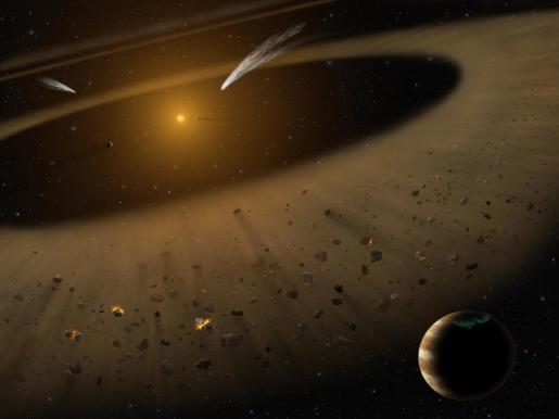 Ilustración del sitema Epsilon Eridani.