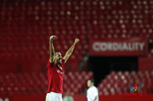 En la imagen, el jugador del RCD Mallorca, Álex Vallejo.
