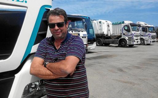 Juan Ruiz, afectado por el incendio del 'Sorrento'.