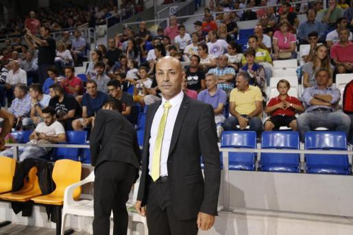 Juanito durante un encuentro del Palma Futsal.