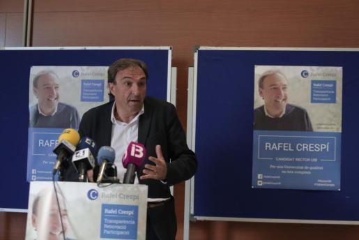 Rafel Crespí, durante la presentación de su candidatura.
