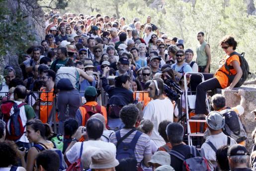 Imagen de archivo de la marcha reivindicativa para pedir el libre acceso a Ternelles.