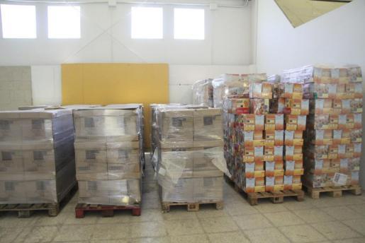 Imagen de archivo de un almacén con comida.