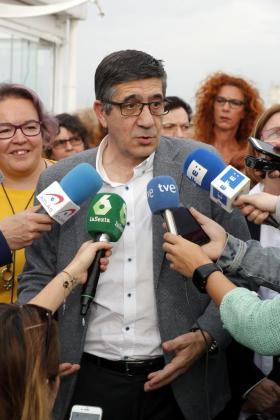 El precandidato a la Secretaría General del PSOE Patxi López.
