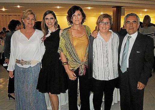 Xisca Galmés, Marita Ligero, Maria Bauzà, Margalida Morro y Andrés Calvo.