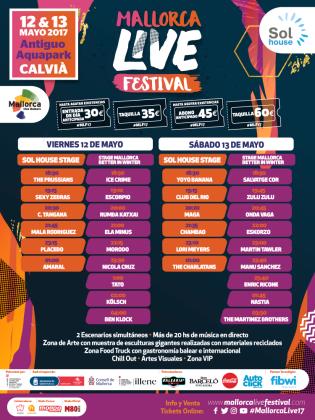 El Mallorca Live Festival, con más de 20 horas de música en directo, se celebra en Calvià.