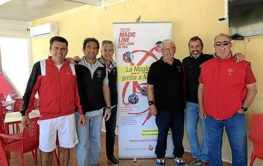 Toni Fiol, Gabriel García del Moral, Xema Gilabert, Joan Florit, Miguel Amengual y Miguel Vidal.