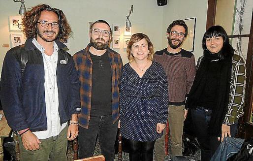 Bruno Daureo, Stefano Pusceddu, Xisca Cañellas, Miquel Ramis y Cristina Ferragut.