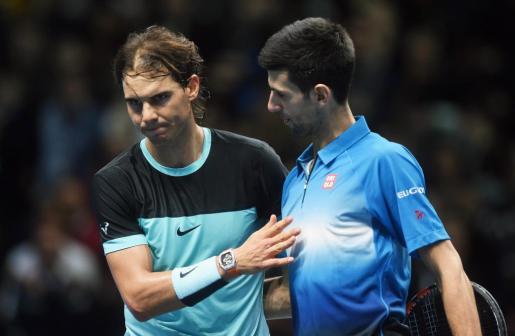 Imagen de archivo de Rafael Nadal y Novak Djokovic.