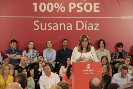 Susana Díaz durante su acto en Palma