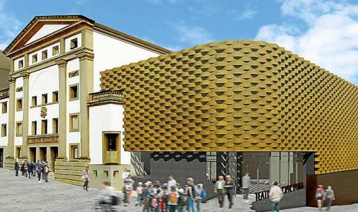 Simulación del proyecto de reforma del Teatre Principal d'Inca.