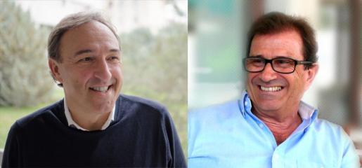 Imágenes de Crespí (izquierda) y Huguet, confirmados oficialmente como candidatos a dirigir la Universitat.