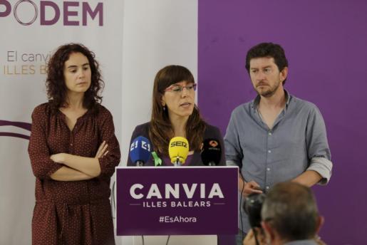 Laura Camargo (centro), en una imagen de archivo.