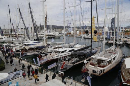 En la imagen, embarcaciones en el Moll Vell de Palma.