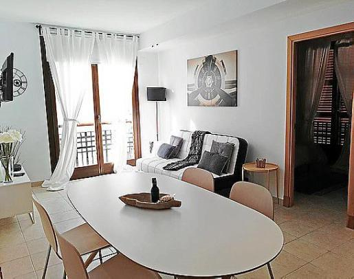 Imagen de una vivienda de Palma anunciada en un portal de Internet para alquiler vacacional.