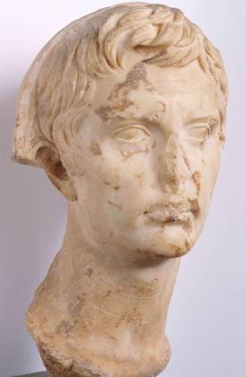 'Cabeza de Augusto velado', un retrato del emperador romano.