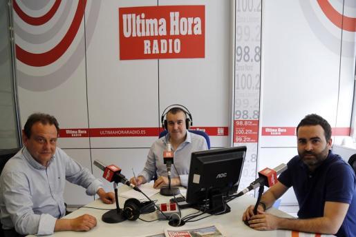 Pedro Horrach, junto a Julio Bastida y Juan Pedro Martínez.
