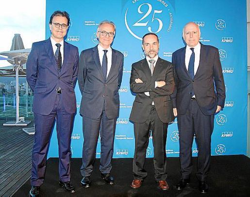 Ignacio Faus, Fernando Serrate, Eliseo Llamazares e Hilario Albarracín.