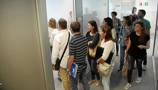 Participantes en la reunión de este martes en la sede de Inspección de Trabajo.